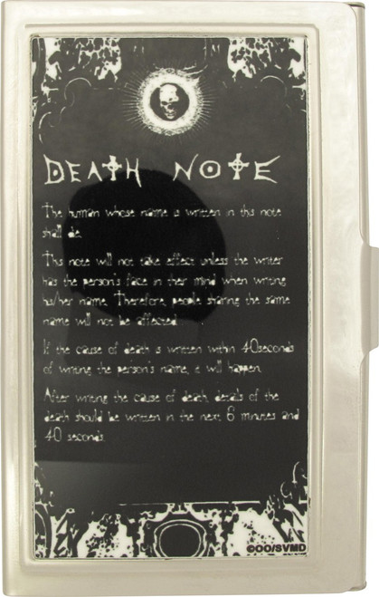 Death Note Notebook Rules Card Case