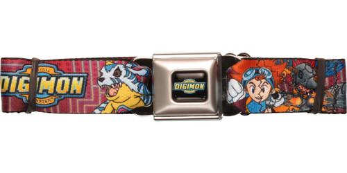 Digimon Matt Mimi Tai Duos Seatbelt Belt