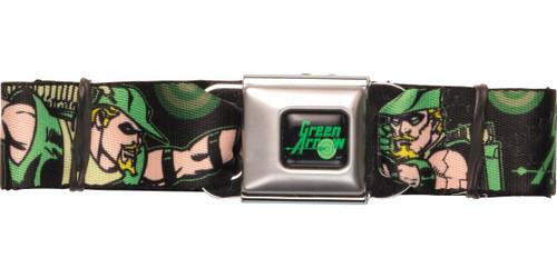 Green Arrow Action Poses Seatbelt Belt