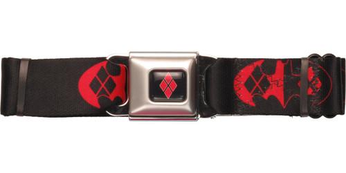 Harley Quinn Bat Diamond Logo Seatbelt Belt