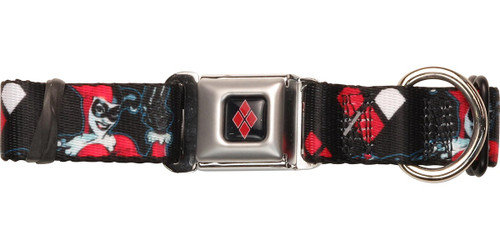 Harley Quinn Pop Gun Poses Pet Collar
