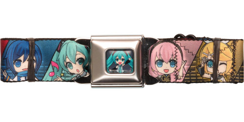 Hatsune Miku Chibi Group Wrap Seatbelt Belt