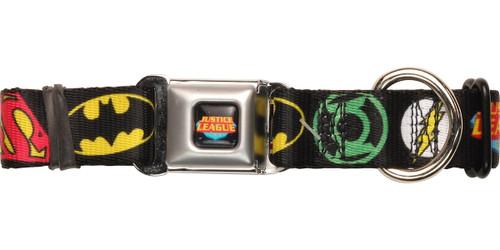 Justice League Logos Pet Collar