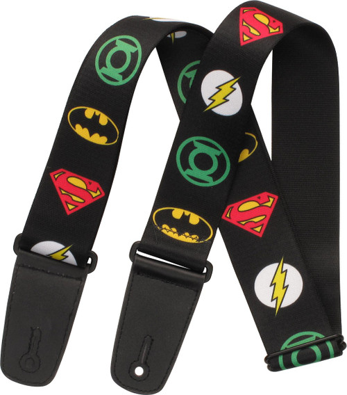 Justice League Superhero Logos Guitar Strap
