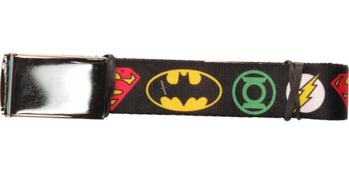 Justice League Superhero Logos Mesh Belt