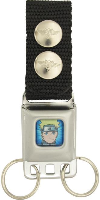 Naruto Head Blue Buckle Keychain