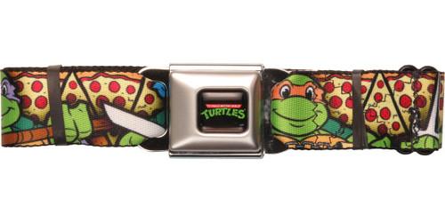 Ninja Turtles Pizza Slice Poses Seatbelt Belt