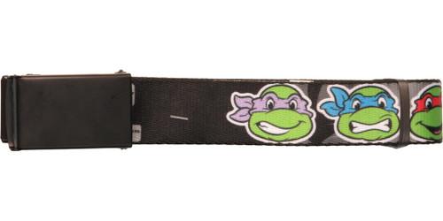 Ninja Turtles TMNT Faces Black Mesh Belt