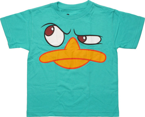 Phineas and Ferb Perry Close Up Juvenile T-Shirt