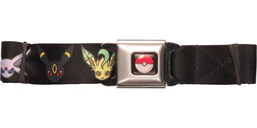 Pokemon Eevee Evolution Heads Seatbelt Belt