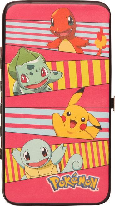 Pokemon Stacked Starters Clutch Wallet