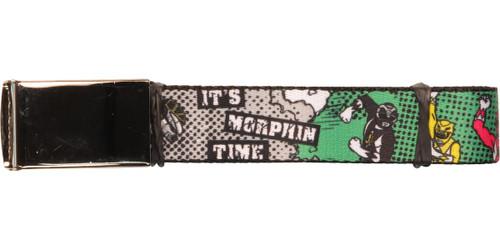 Power Rangers Morphin Time Green Mesh Belt