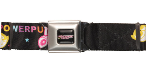 Powerpuff Girls Color Heads Seatbelt Belt