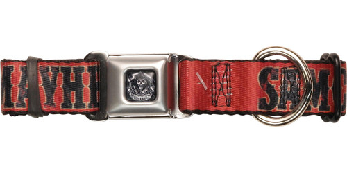 Sons of Anarchy SAMCRO Mayhem Red Pet Collar