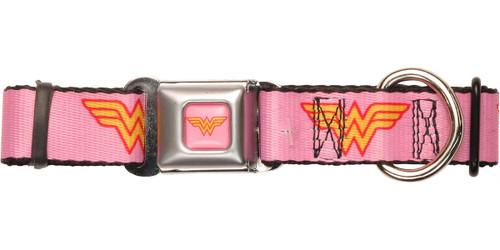 Wonder Woman Logo Pink Pet Collar
