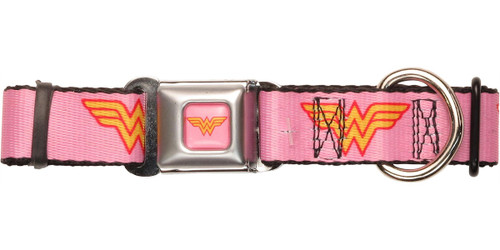 Wonder Woman Logo Pink Pet Collar
