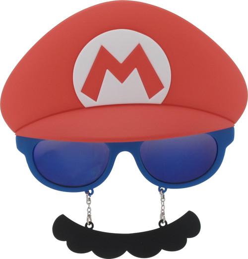Mario Hat And Mustache Costume Glasses