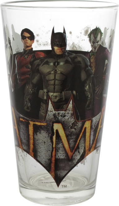 Batman Arkham Knight Group Toon Tumbler Pint Glass