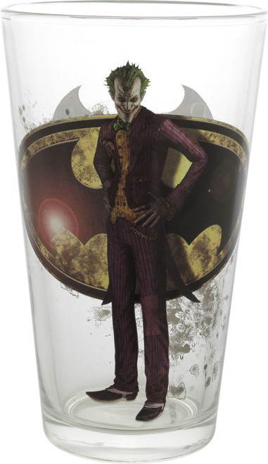 Batman Arkham Knight Joker Toon Tumbler Pint Glass
