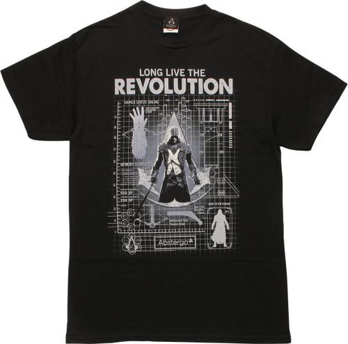 Assassins Creed Unity Blueprint T-Shirt