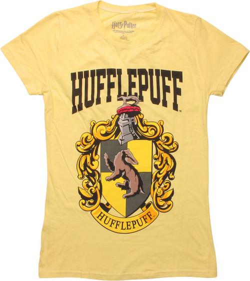 ed93d4b84b66 Harry Potter Hufflepuff Crest Juniors T-Shirt