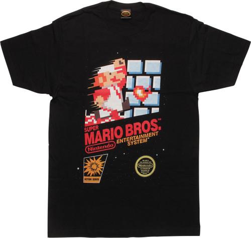 Mario Super Mario Brothers NES Art T-Shirt