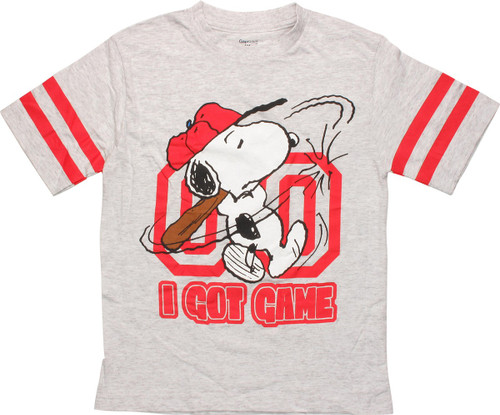 9c75ac384 Peanuts Snoopy I Got Game Youth T-Shirt youth-t-peanuts-snoopy-got-game-gray