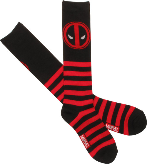 Deadpool Single Logo Ladies Knee High Socks