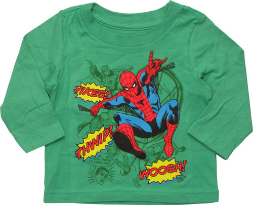 Spiderman Sound Effects Long Sleeve Infant T-Shirt