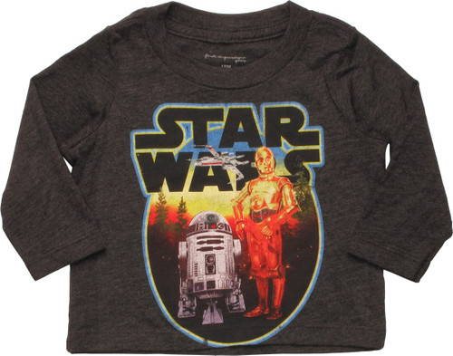 Star Wars Circled Droids LS Infant T-Shirt