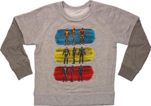 Iron Man 3 Suits of Armor Juvenile Sweatshirt