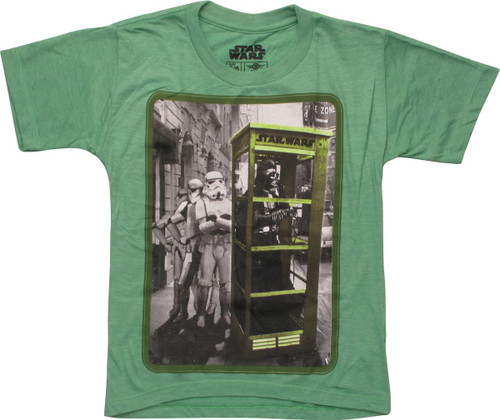 Star Wars Vader in Phone Booth Juvenile T-Shirt