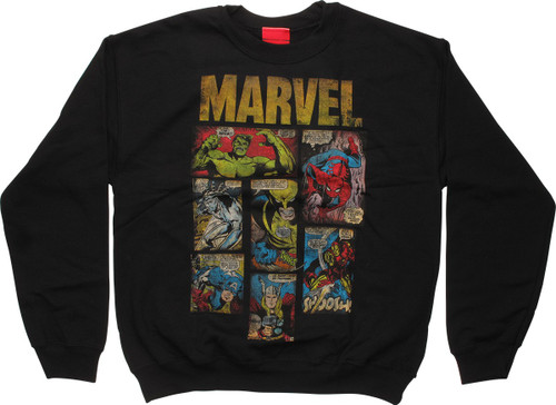 Marvel Comic Book Panels Sweatshirt