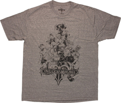 Kingdom Hearts PS 2 Game Cover Outline T-Shirt