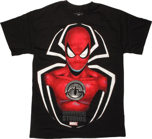 Spiderman Universal Studios Hero on Logo T-Shirt