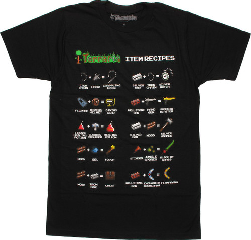 Terraria 10 Item Recipes T-Shirt