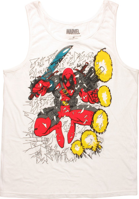 Deadpool Shattered Glass Jump Tank Top