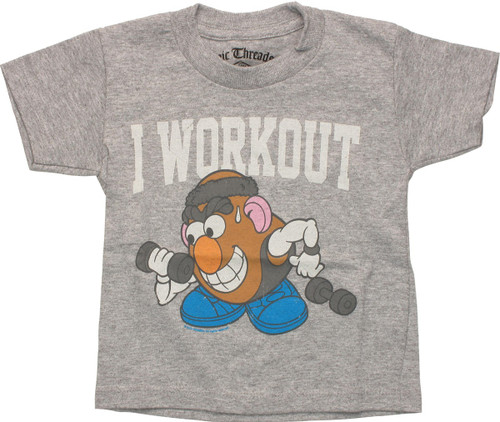 Mr Potato Head I Work Out Toddler T-Shirt