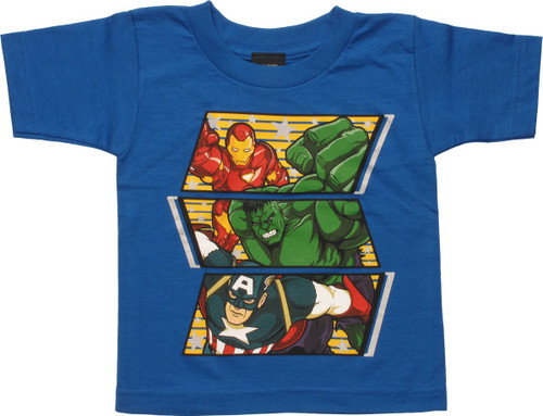 Avengers Trio Horizontal Panels Toddler T-Shirt