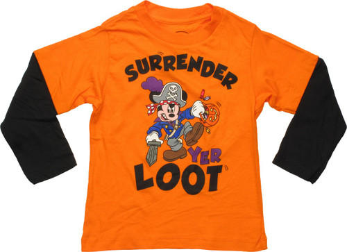 Mickey Mouse Surrender Yer Loot LS Toddler T-Shirt