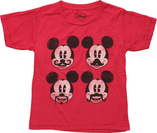Mickey Mouse Four Mustaches Distress Toddler Shirt