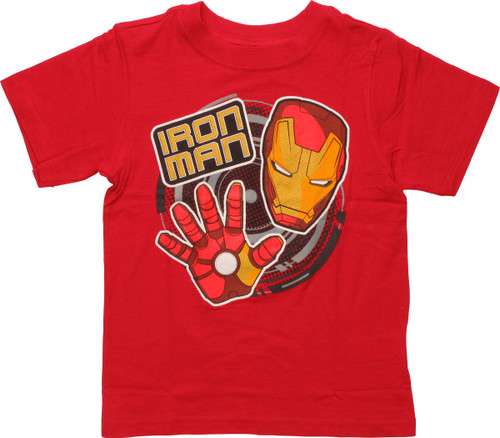 Iron Man Big Hand and Face Toddler T-Shirt