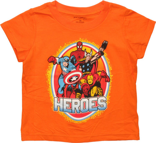 Avengers Heroes Group Circle Toddler T-Shirt