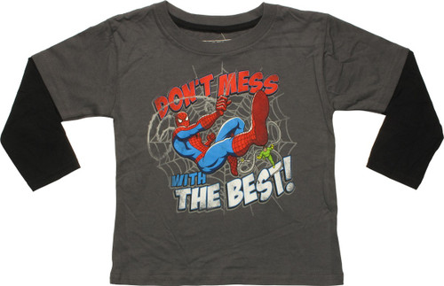 Spiderman Don't Mess with Best LS Toddler T-Shirt