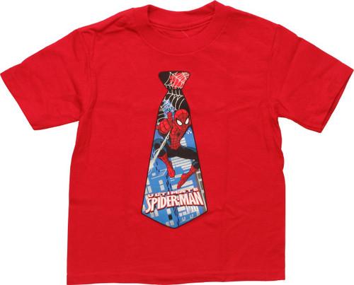 Spiderman Scene Inside Tie Toddler T-Shirt