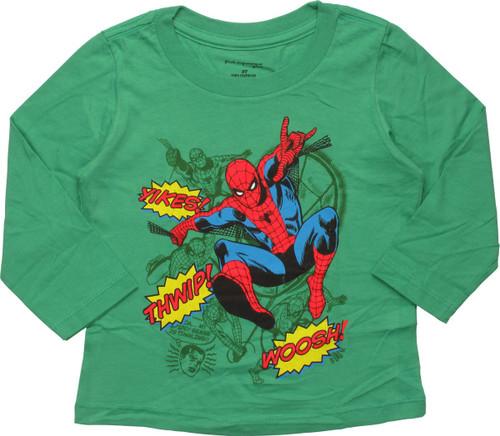 Spiderman Sound Effects LS Toddler T-Shirt