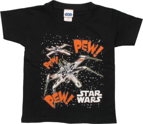 Star Wars X-Wing Firing Pew Pew Toddler T-Shirt