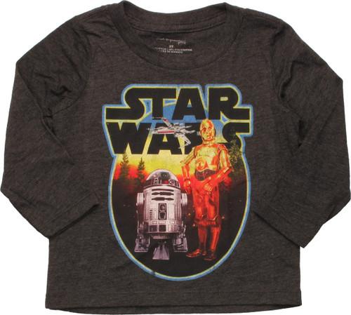 Star Wars Circled Droids LS Toddler T-Shirt