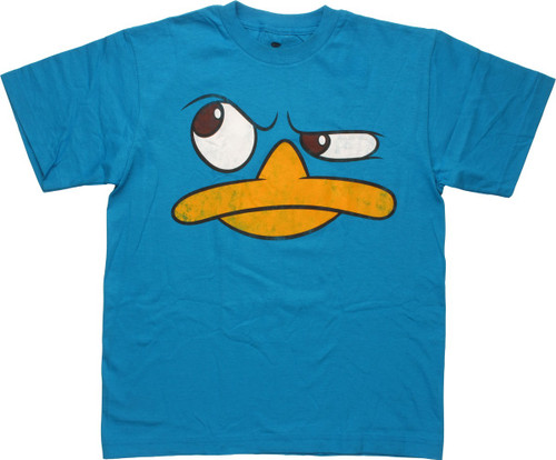 Phineas and Ferb Perry Face Thinking Youth T-Shirt