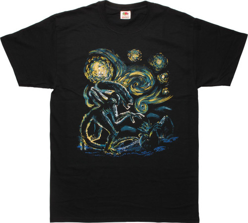 Alien Van Gogh Starry Night T-Shirt
